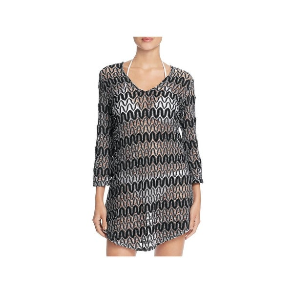 f42b025f39aa1 Shop J Valdi Womens Crochet Zig Zag Dress Swim Cover-Up - Free ...