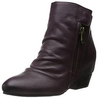 Naya Womens Fillie Leather Round Toe Booties - 6.5 medium (b,m)