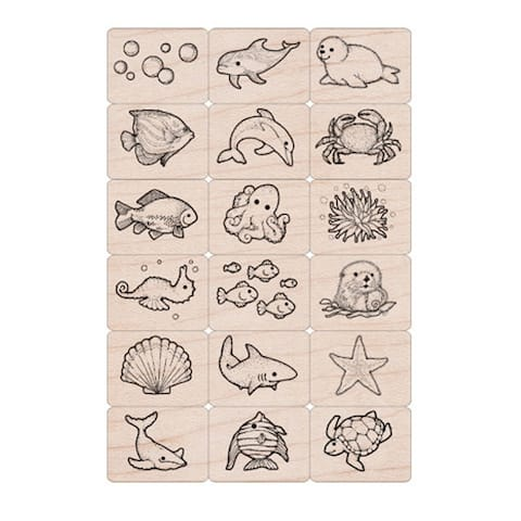 Ink 'n' Stamp Sea Life Stamps, Set of 18 - One Size