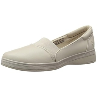 Grasshoppers Womens Jade Faux Leather Slip On Fashion Sneakers