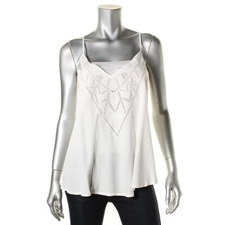 ASTR Womens Tank Top Laser Cut Sleeveless