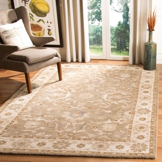 Link to Safavieh Handmade Anatolia Pearle Traditional Oriental Hand-spun Wool Rug Similar Items in Transitional Rugs