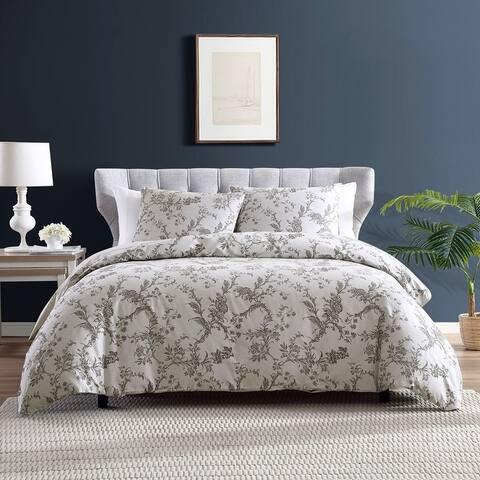 Brielle Home Farmington Floral Jacquard Cotton Comforter Set
