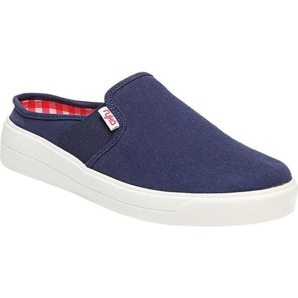 Valerie Mule Blue/Red/White Canvas