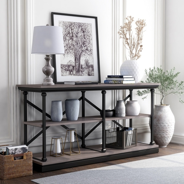 Furniture of America Marcin Transitional Shelf Base Console Table. Opens flyout.