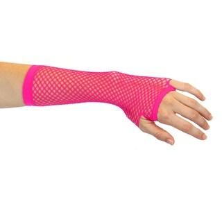 Carnival Sheer Mesh Stretch Fingerless Fishnet Gloves