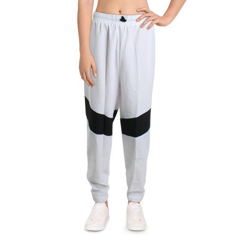Reebok Womens Plus Athletic Pants Fitness Workout - White - 3X
