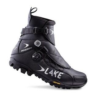 Lake Men's Black MXZ 303-X Wide Winter Boots Size 40