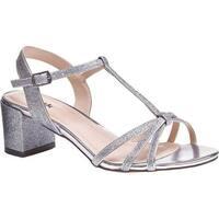 Pink Paradox London Women's Sadie Formal T-Strap Sandal Silver Synthetic