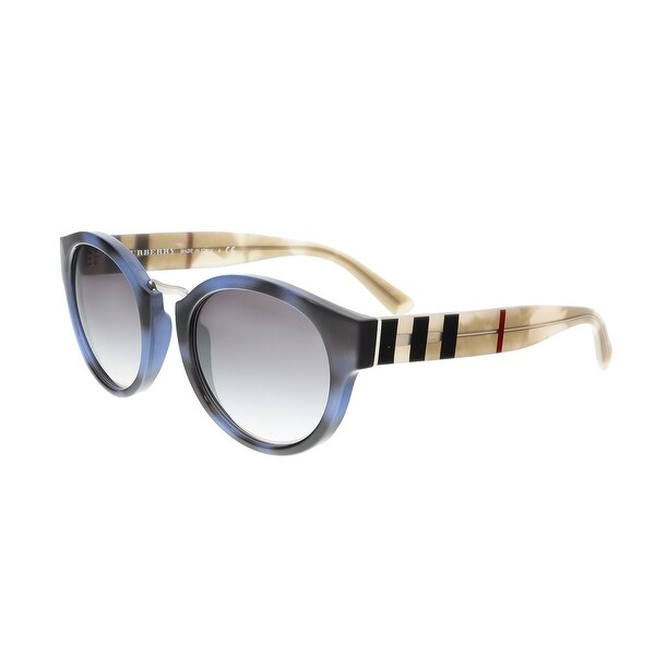 Burberry BE4227 35466I Blue Gradient Round Sunglasses - blue gradient