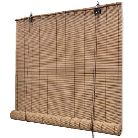 """vidaXL Roller Blind Bamboo 31.5""""x86.6"""" Brown"""