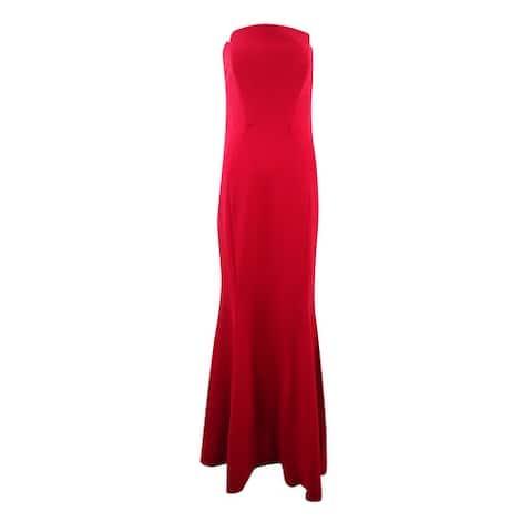 Jill Stuart Women's Notch Crepe Trumpet Gown