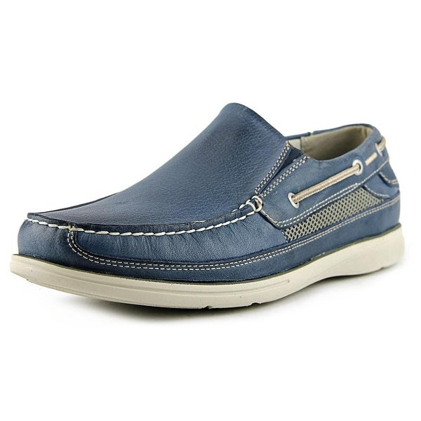 Dockers Chalmers Men Round Toe Leather Blue Loafer