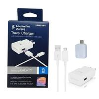 Official Samsung Adaptive Fast Charging Wall /Travel Charger - For S7/S6/Note 4/5/Edge W/ USB to USB Adapter Stylus Kit