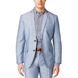 INC International Concepts Regular Fit Blue Linen Blend Sportcoat Blazer Small S