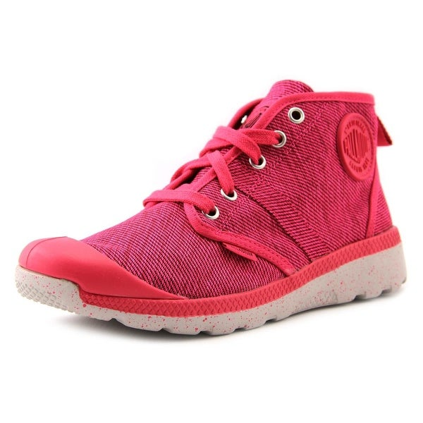 Palladium Pallaville Hi Tx Women Round Toe Canvas Pink Sneakers