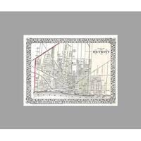 Detroit  (24x18) Vintage City Maps Matte Poster 24x18