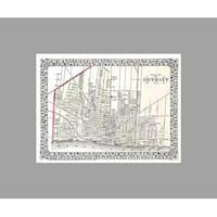 Detroit (36x27) Vintage City Maps Matte Poster 36x27
