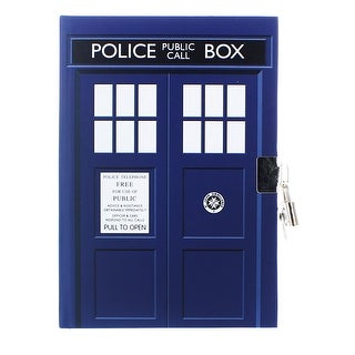 "Doctor Who TARDIS Lock and Key 6"" x 8.5"" Journal - multi"