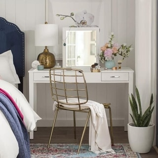 Link to Posh Pollen Ainsley White Vanity Desk Similar Items in Bedroom Furniture
