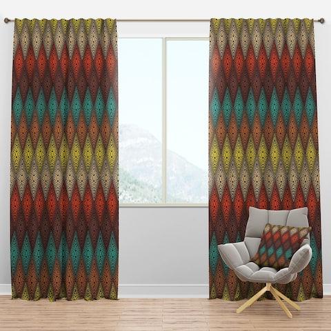 Designart 'Abstract Color Dot Geometric Pattern' Modern Blackout Curtain Panel