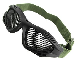 Army Green Stretchy Band Mesh Goggles Pair for Wargame