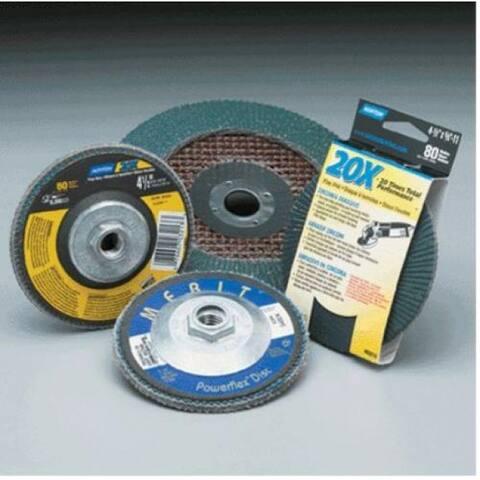 "Norton 19984 60 Grit Flap Disc, Medium Grade, 4-1/2"" x 7/8"""