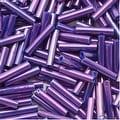 Toho Bugle Tube Beads Size 3 2x9mm Higher Metallic Grape 10 Grams - Thumbnail 0
