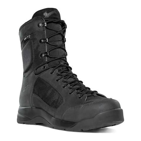 "Danner Men's Descender GORE-TEX 8"" Plain Toe Black Nubuck"