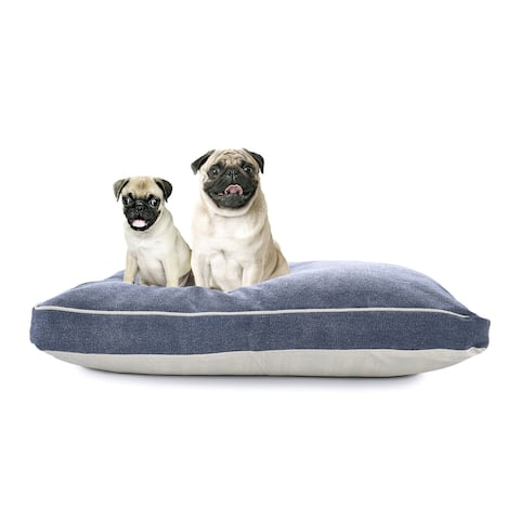 """Solid Stonewash Pillow Dog Bed with Removable Cover - 24"""" x 36"""" x 3"""""""