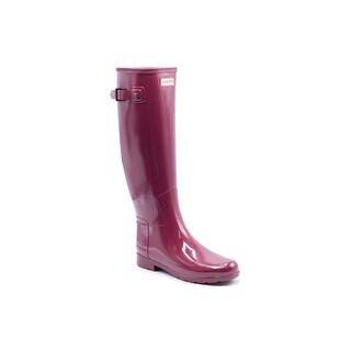 Hunter Womens Red Original Refined Gloss Rain Boots