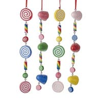"""Club Pack of 24 Vibrantly Colored Decorative Candy String Ornaments 9"""" - WHITE"""