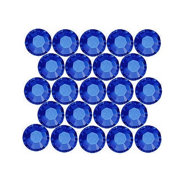 Swarovski Elements Crystal, Round Flatback Rhinestone Hotfix SS12 3mm, 50 Pieces, Sapphire