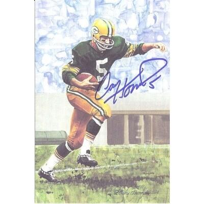 online store cd4e0 b39bd Paul Hornung Autographed Green Bay Packers Goal Line Art Card