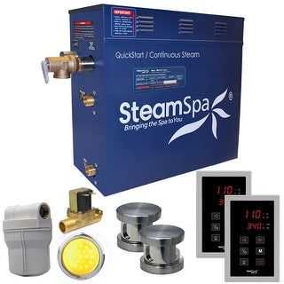 SteamSpa RYT1200-A  Royal 12 KW QuickStart Acu-Steam Bath Generator Package with Built-in Auto Drain and Touch Controller