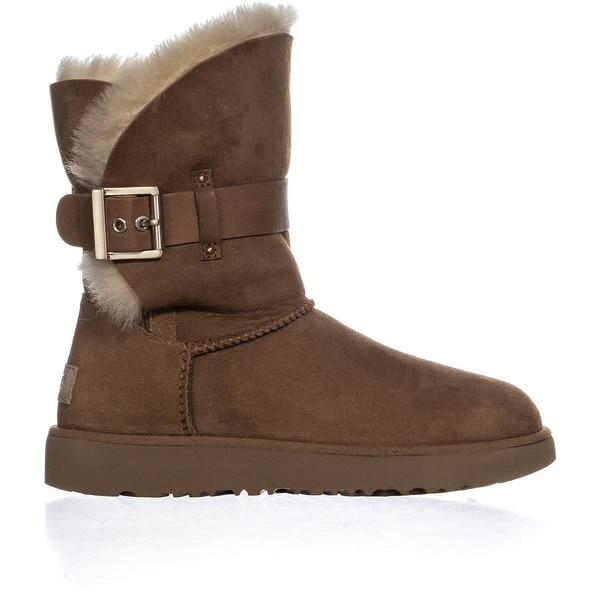4079ebee318 Shop UGG Jaylyn Shearling Boots, Chestnut - Free Shipping Today ...