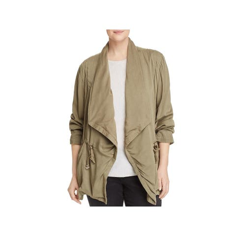 Bagatelle Womens Plus Jacket Drapey Open Front