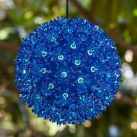 "Wintergreen Lighting 70175 7.5"" Starlight Sphere with 100 Blue Lights"