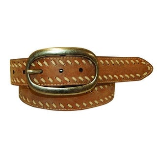 Cowgirls Rock Western Belt Womens Leather Lacing Brown 9621300
