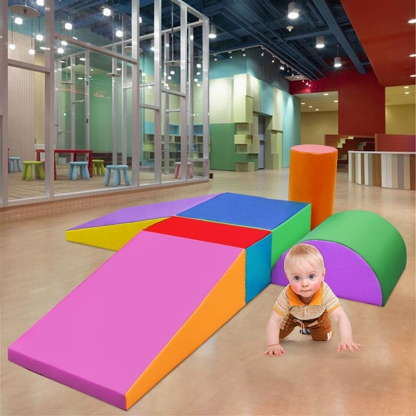 6PCS Climb and Crawl Foam Shapes Activity Play Set Foam Shapes Toy for Toddlers - Multicolor. Opens flyout.