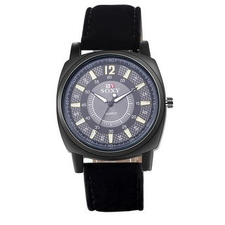 Houston Inspired Black Faux Leather Watch