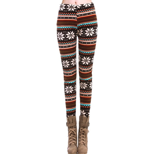Hot Winter Warm Xmas Snowflake Reindeer Knitted Pants Skinny Leggings ONE SIZE