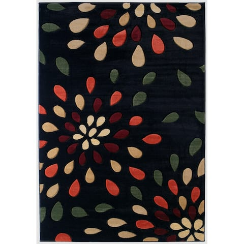 """Westfield Home Sculptures Lucinda Onyx Hand Carved Accent Rug - 1'10"""" x 2'6"""""""