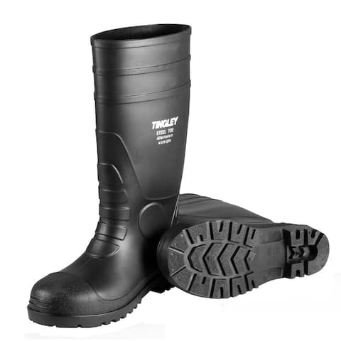 Tingley 31151-14 Economy PVC Knee Boots, Size 14, Black