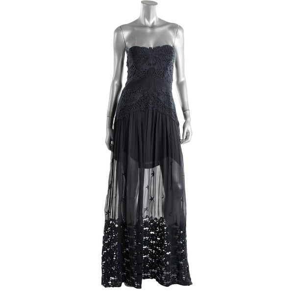 501d2634d61 Shop Free People Womens Maxi Dress Lace Strapless - Free Shipping Today -  Overstock - 14104238
