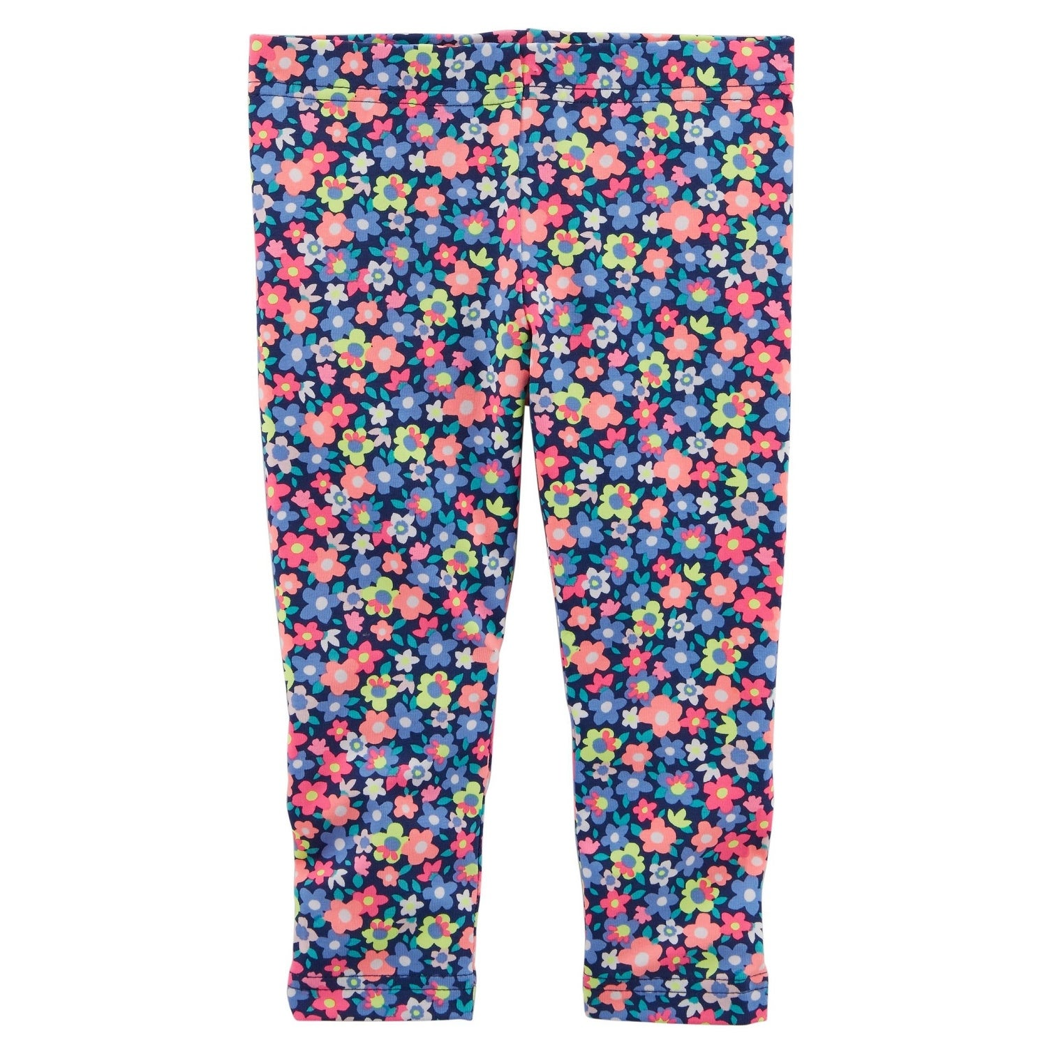 Shop Carter S Baby Girls Floral Capri Leggings Blue Floral 9 Months Free Shipping On Orders Over 45 Overstock 27032986