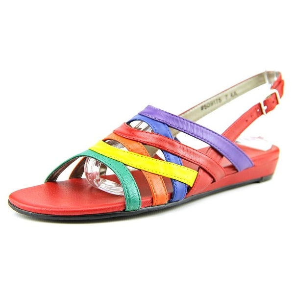 Mark Lemp By Walking Cradles Lanie Women Red Multi Sandals