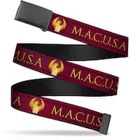 Blank Black Bo Buckle Macusa Seal Reds Golds White Webbing Web Belt