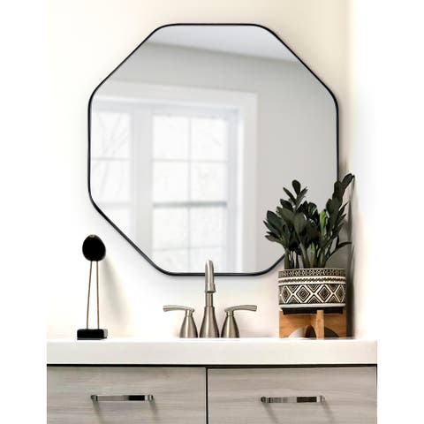 Kate and Laurel Rollo Octagon Framed Wall Mirror