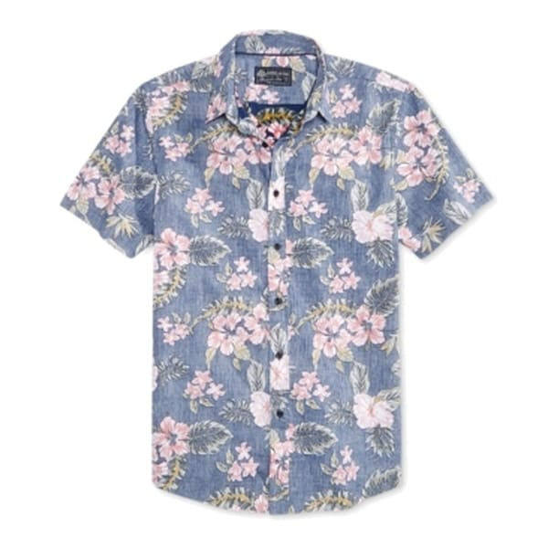 American Rag Mens Floral Print Button Down Shirt